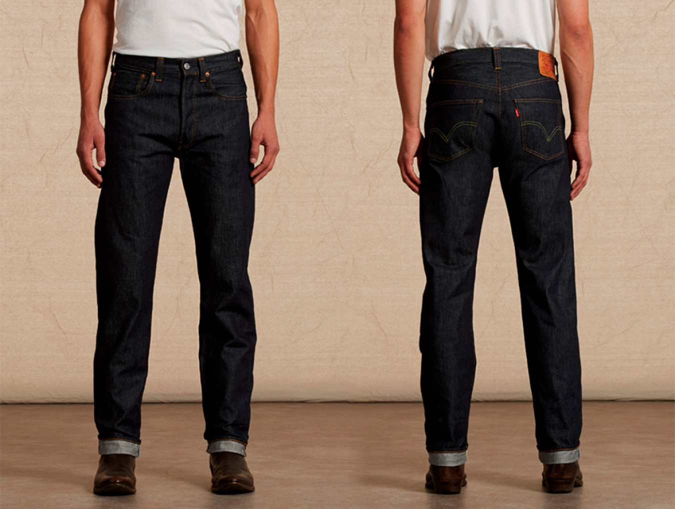 LEVI'S 501 1947 front and back Courtesy of Levi's Vintage Clothing