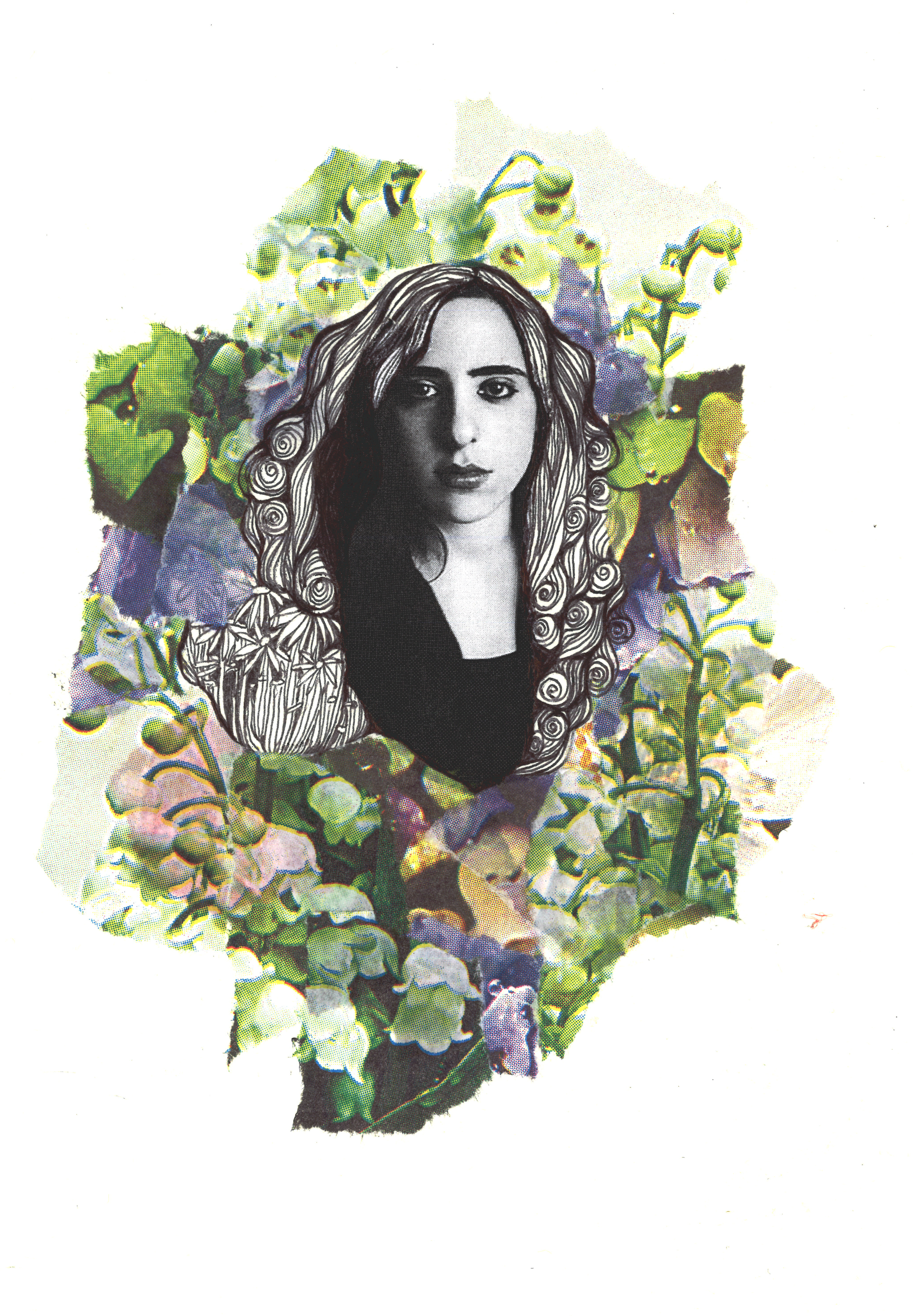 Laura Nyro collage by Tytti Roto