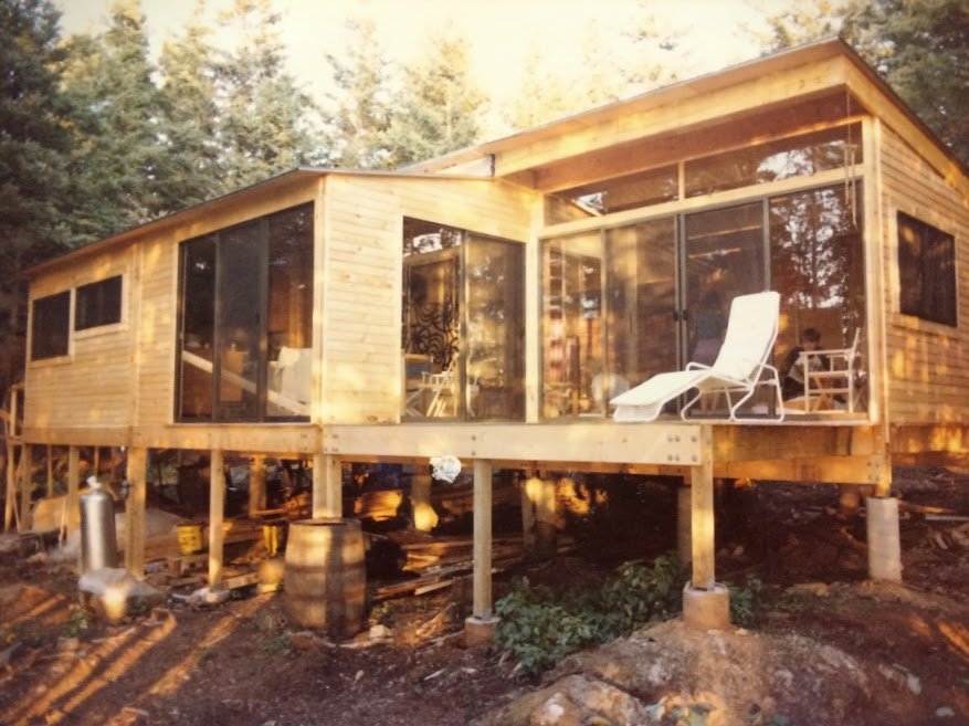 The newly constructed Odom house in 1983 Photo by Birgitta Odom