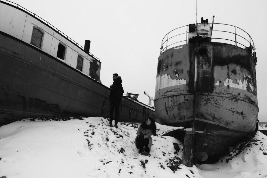 Boats and snow